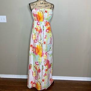 OLD NAVY FLORAL SLEEVELESS MAXI DRESS